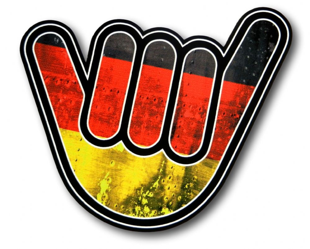 No Worries Hand With Germany German Grunge Flag Motif